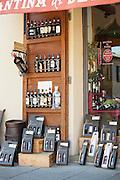 Brunello di Montalcino red one, a premium fine wine of Italy, for sale at a boutique in Montalcino, Tuscany, Italy