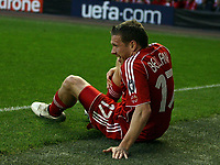 Photo: Paul Thomas.<br /> Liverpool v PSV Eindhoven. UEFA Champions League. Quarter Final, 2nd Leg. 11/04/2007.<br /> <br /> Craig Bellamy of Liverpool gets injury to his right leg, then is later carried off.