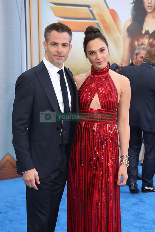 """Stars attend the """"Wonder Woman"""" world Premiere in Los Angeles. 25 May 2017 Pictured: Chris Pine, Gal Gadot. Photo credit: IPA/MEGA TheMegaAgency.com +1 888 505 6342"""