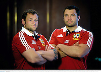 9 June 2013; Recently called up British & Irish Lions players Ryan Grant, left, and Alex Corbisiero following the team announcement ahead of their game against Combined Country on Tuesday. British & Irish Lions Tour 2013, Team Announcement, Tattersalls Club, Brisbane, Queensland, Australia. Picture credit: Stephen McCarthy / SPORTSFILE