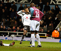 Photo: Leigh Quinnell.<br /> West Ham United v Fulham. The Barclays Premiership. 13/01/2007. Fulhams Philippe Christanval celebrates his last minute goal to get Fulham the draw.