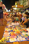The Kawasan market Bangkok Thailand at night