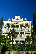 Low angle view of elegant villa, Opatija, Croatia