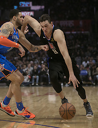 March 8, 2019 - Los Angeles, California, United States of America - Danilo Gallinari #8 of the Los Angeles Clippers drives past  of the Oklahoma Thunder during their NBA game on Friday March 8, 2019 at the Staples Center in Los Angeles, California. Clippers defeat Thunder, 118-110.  JAVIER ROJAS/PI (Credit Image: © Prensa Internacional via ZUMA Wire)