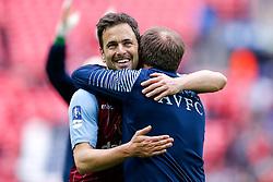 Joe Cole celebrates after Aston Villa win the match 2-1 to reach the 2015 FA Cup Final - Photo mandatory by-line: Rogan Thomson/JMP - 07966 386802 - 19/04/2015 - SPORT - FOOTBALL - London, England - Wembley Stadium - Aston Villa v Liverpool - FA Cup Semi Final.