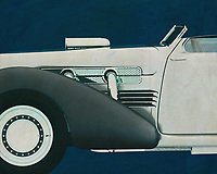 If you want to give your interior an extra stylish detail, this painting of a Cord 812 Concept Roadster is perfect. –<br />