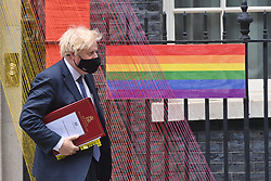 © Licensed to London News Pictures. 30/06/2021. London, UK. British Prime Minister leaving Downing St for Prime Ministers Question Time at the House of Commons. credit: Ray Tang/LNP