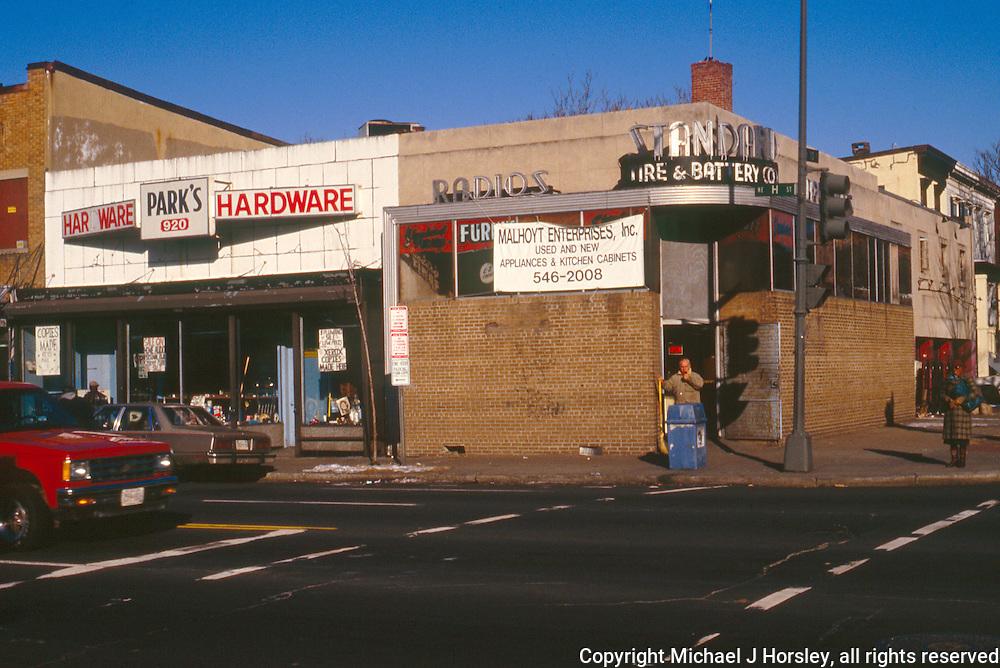 10th and H Street NE Washington DC, 1988<br /> Parks Hardware