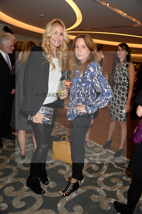Left to right, MELISSA ODABASH and EMILY OPPENHEIMER-TURNER at a reception to launch the range of Dr Lancer beauty products held at The Penthouse, Harrods, Knightsbridge, London on 16th September 2013.