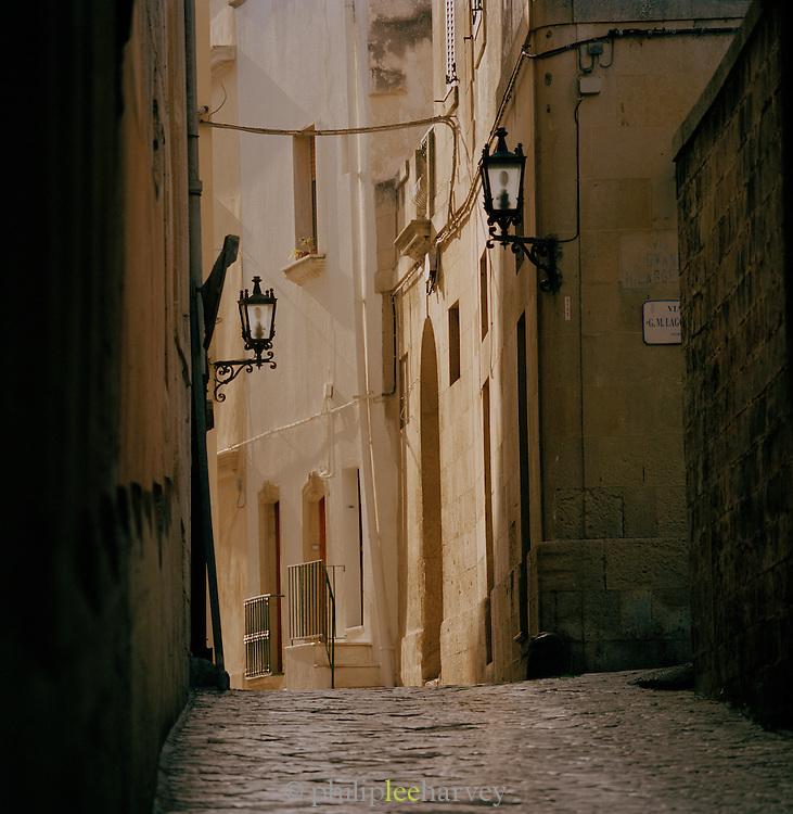 A quiet street in Ostuni, Puglia, Italy