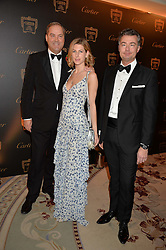 Left to right, the HON.HARRY HERBERT, SUSANNA WARREN and LAURENT FENIOUat the 26th Cartier Racing Awards held at The Dorchester, Park Lane, London on 8th November 2016.