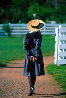 Young girl portraying Anne of Green Gables, Green Gables House, Cavendish, Prince Edward Island, Canada
