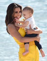 Eva Longoria is seen on the beach playing with her baby Santiago Enrique Bastón in Cannes. 15 May 2019 Pictured: Eva Longoria , Santiago Enrique Bastón. Photo credit: Neil Warner/MEGA TheMegaAgency.com +1 888 505 6342