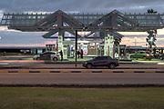 20210511 / URUGUAY / MONTEVIDEO /<br /> Estación de servicio Ancap en la rambla de Montevideo. Foto: Ricardo Antúnez / adhocFOTOS