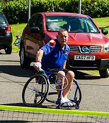 Pictured: <br /> <br /> First-ever care home games tournament took place over two days at Edinburgh's Inchview Care home. More than 90 athletes from other care homes gathered to  compete in events including javelin, curling and dancing. <br /> <br /> <br /> <br /> Ger Harley | EEm 27 July 2016