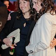 NLD/Amsterdam/20120404 - Opening filmmuseum Eye, Halina Reijn en zus Leonora
