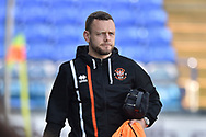 Blackpool Midfielder, Jay Spearing (44) arrives at the ground during the EFL Sky Bet League 1 match between Portsmouth and Blackpool at Fratton Park, Portsmouth, England on 24 February 2018. Picture by Adam Rivers.