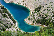 Zavratnica Bay north of Karlobag, Croatia. Part of a story on Croatia's hidden landscape and undiscovered tourism.