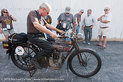 Norm Nelson of FL on his 1911 Reading Standard during the Motorcycle Cannonball Race of the Century. Stage-1 from Atlantic City, NJ to York, PA. USA. Saturday September 10, 2016. Photography ©2016 Michael Lichter.