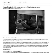 Special feature on the drug war and murder in Mexico featured in Mother Jones Magazine.