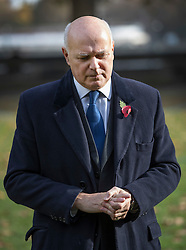 © Licensed to London News Pictures. 03/11/2016. London, UK. Former Cabinet minister Iain Duncan Smith talks to reporters near Parliament. Earlier a High Court ruling said that the government must consult MPs before triggering Article 50. Photo credit: Peter Macdiarmid/LNP