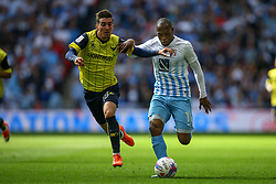 Kyel Reid of Coventry City runs down the wing under pressure from Phil Edwards of Oxford United - Photo mandatory by-line: Jason Brown/JMP -  02/04//2017 - SPORT - Football - London - Wembley Stadium - Coventry City v Oxford United - Checkatrade Trophy Final