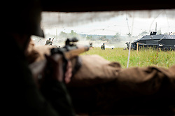 A reenactors view, of the Battlefield, at the Spam  Wartime Weekend Heckmondwike<br /> 10th July 2011.<br /> Images © Paul David Drabble