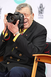 Photo by: RE/Westcom/starmaxinc.com<br />STAR MAX<br />©2014<br />ALL RIGHTS RESERVED<br />Telephone/Fax: (212) 995-1196<br />4/12/14<br />Jerry Lewis at a hand and footprint ceremony.<br />(Los Angeles, CA)