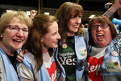 Yes campaigners celebrate at the count centre in Dublin's RDS as votes are counted in the referendum on the 8th Amendment of the Irish Constitution which prohibits abortions unless a mother's life is in danger. Picture date: Saturday May 26, 2018. See PA story IRISH Abortion. Photo credit should read: Brian Lawless/PA Wire