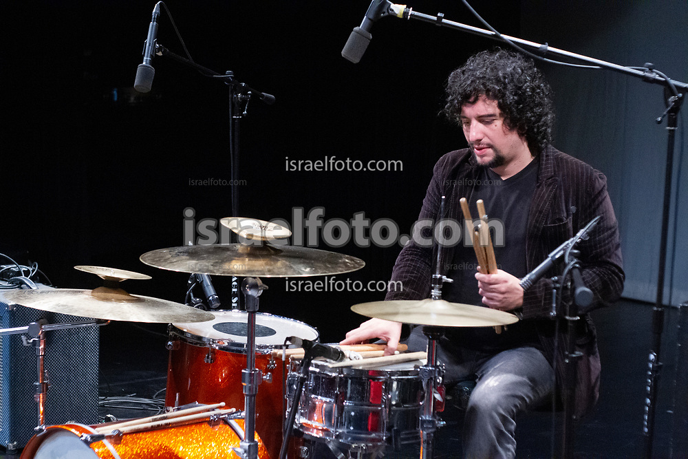 Mexico City, Mexico, November 22, 2012.Jose Maria Arreola prepares his drums before a show in the Chopo Museum