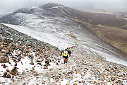 Competitors in the Sea2Summit competition on Croagh Patrick  Westport, Co. Mayo. Picture:Andrew Downes