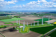 Nederland, Flevoland, Zeewolde, 07-05-2015; Kortegolf-zendstation Zeewolde, zenderpark Flevoland. Zendstation Wereldomroep ook bekend als Zenderpark Radio Nederland Wereldomroep. Het kortegolfzendstation, was oorspronkelijk in gebruik bij de Wereldomroep.<br /> Shortwave Broadcasting station in the polder of Flevoland. Formerly used by Radio Netherlands Worldwide (Radio Nederland Wereldomroep).<br /> luchtfoto (toeslag op standard tarieven);<br /> aerial photo (additional fee required);<br /> copyright foto/photo Siebe Swart