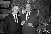 22/04/1964<br /> 04/22/1964<br /> 22 April 1964<br /> Mr Toddie O'Sullivan manager of the Gresham Hotel, Dublin and Mr J. Brooks Feno, Treasurer of Sheraton Corporation of America, Sheraton Building, 470 Atlantic Ave., Boston  at the Gresham Hotel.