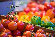 Organic produce in the Granville Island Public Market, Vancouver British Columbia, Canada