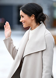 Prince Harry and Meghan Markle visit Titanic Belfast in Belfast, Northern Ireland, UK, on the 23rd March 2018. 23 Mar 2018 Pictured: Meghan Markle. Photo credit: MEGA TheMegaAgency.com +1 888 505 6342