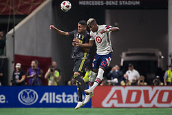 August 1, 2018 - Atlanta, Georgia, United States - MLS All-Star defender MICHAEL AMIR MURILLO, 62 (New York Red Bulls) fights for the ball during the 2018 MLS All-Star Game at Mercedes-Benz Stadium in Atlanta, Georgia.  Juventus F.C. defeats  MLS All-Stars defeat  1 to 1  (Credit Image: © Mark Smith via ZUMA Wire)