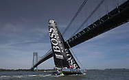 IMOCA Ocean Masters. New York - Barcelona Race start. Pictures Hugo Boss skippered by Pepe Ribes (ESP) & Ryan Breymaier (USA)<br />  Credit: Mark Lloyd/Lloyd Images