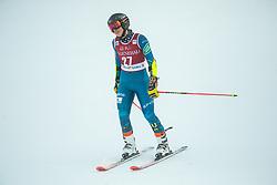 Nina O Brien (USA) reacts during 2nd Run of Ladies' Giant Slalom at 57th Golden Fox event at Audi FIS Ski World Cup 2020/21, on January 16, 2021 in Podkoren, Kranjska Gora, Slovenia. Photo by Vid Ponikvar / Sportida