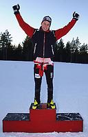 20011202: Kristian Horntvedt fra Stokke IL vant søndagens utslagsrenn for menn jr under Gålåsprinten på Dombås. (Foto: Andreas Fadum, Digitalsport)