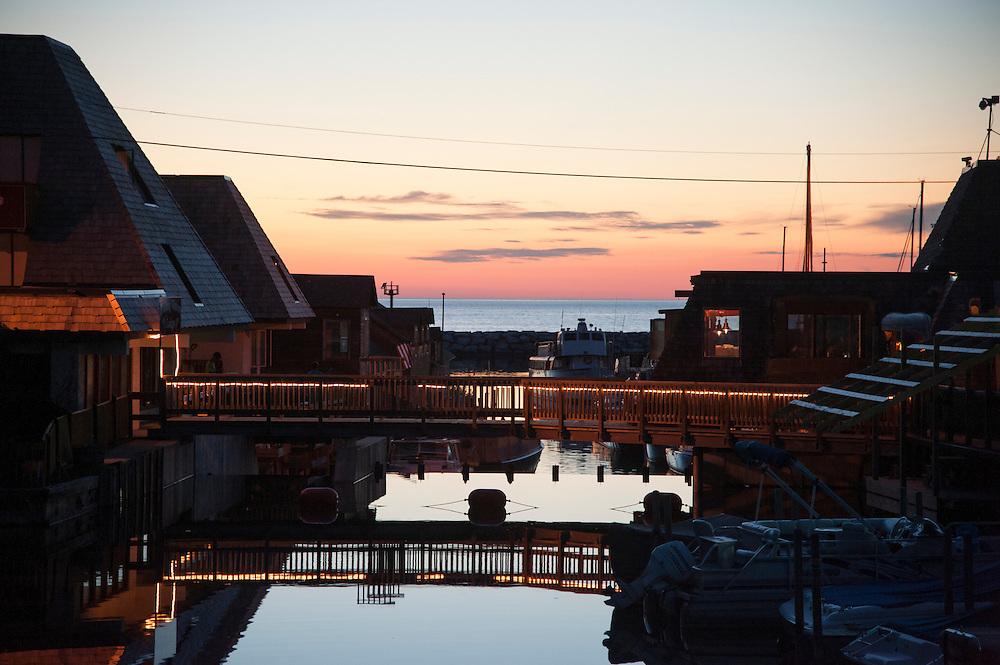 Historic Fishtown at Leeland on the Leelanau Peninsula near Sleeping Bear Dune National Lakeshore near Traverse City, Michigan.