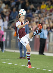 March 18, 2017 - Commerce City, Colorado, U.S - Rapids MARC BURCH kicks the ball so it doesn't go out of bounds during the 1st. Half at Dicks Sporting Goods Park Sat. night. The Rapids draw 2-2 to Minnesota United FC. (Credit Image: © Hector Acevedo via ZUMA Wire)