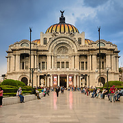Exterior of Palacio de Bellas Artes in Mexico CIty