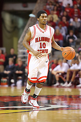 05 January 2008:  Dom Johnson. The Redbirds of Illinois State took the bite out of the Salukis of Southern Illinois winning the Conference home opener for the 'birds on Doug Collins Court in Redbird Arena in Normal Illinois by a score of 56-47.