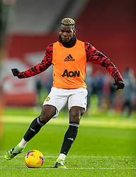 MANCHESTER, ENGLAND - Friday, January 1, 2020: Manchester United's Paul Pogba during the pre-match warm-up before the New Year's Day FA Premier League match between Manchester United FC and Aston Villa FC at Old Trafford. The game was played behind closed doors due to the UK government putting Greater Manchester in Tier 4: Stay at Home during the Coronavirus COVID-19 Pandemic. (Pic by David Rawcliffe/Propaganda)