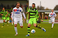 Forest Green Rovers striker Rhys Murphy (39) on the attack during the Vanarama National League match between Forest Green Rovers and Dagenham and Redbridge at the New Lawn, Forest Green, United Kingdom on 29 October 2016. Photo by Alan Franklin.