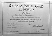 1965 - Copy of certificate for Rev. Rweyemamu Sadoth
