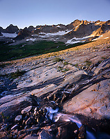 MOUNT TORMENT FORBIDDEN PEAK AND GLACIER SCOURED ROCK IN BOSTON BASIN, NORTH CASCADES NATIONAL PARK WASHINGTON