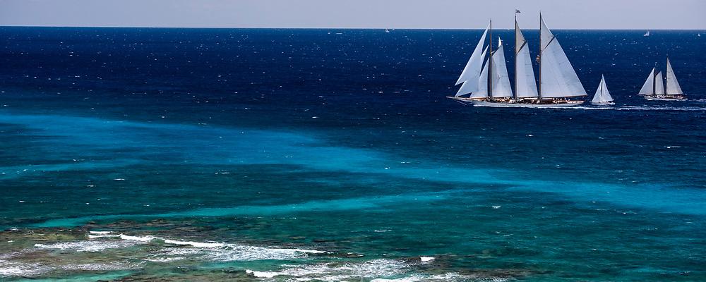 Adix sailing in the Antigua Classic Yacht Regatta, Butterfly Race.