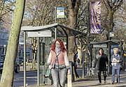 22nd February, Cheltenham, England. Shoppers walking through the town centre in Cheltenham during England's third national lockdown.