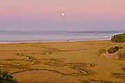 Rising Full Moon at Sunset,China Camp State Park, Marin County, CA